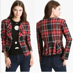 Heed | Tartan Plaid Peplum Blazer Fall